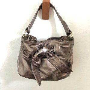 Kooba Elisha Metallic Leather Bow Purse